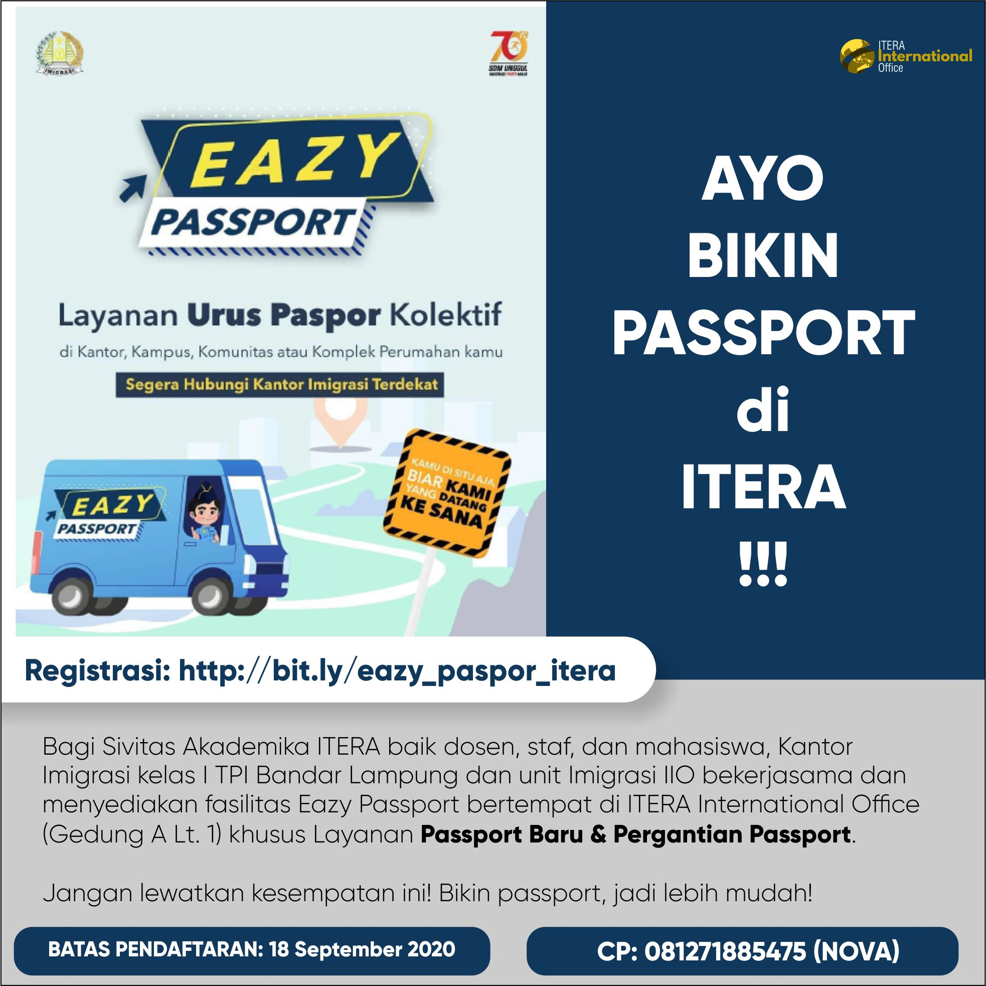 Register NOW: EAZY Passport at ITERA!
