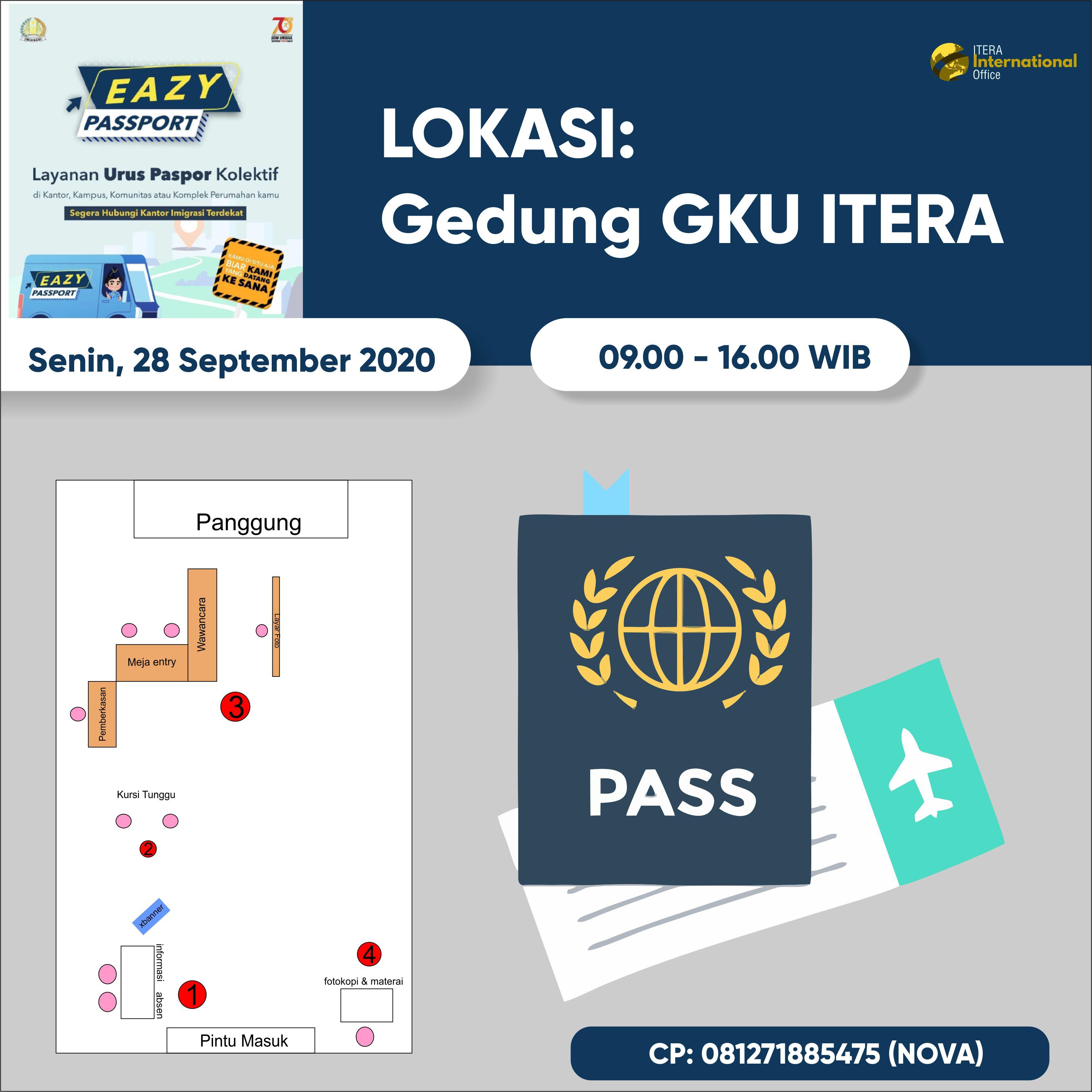 Pembagian Sesi Pemohon Pembuatan Passport (Layanan EAZY PASSPORT) di ITERA
