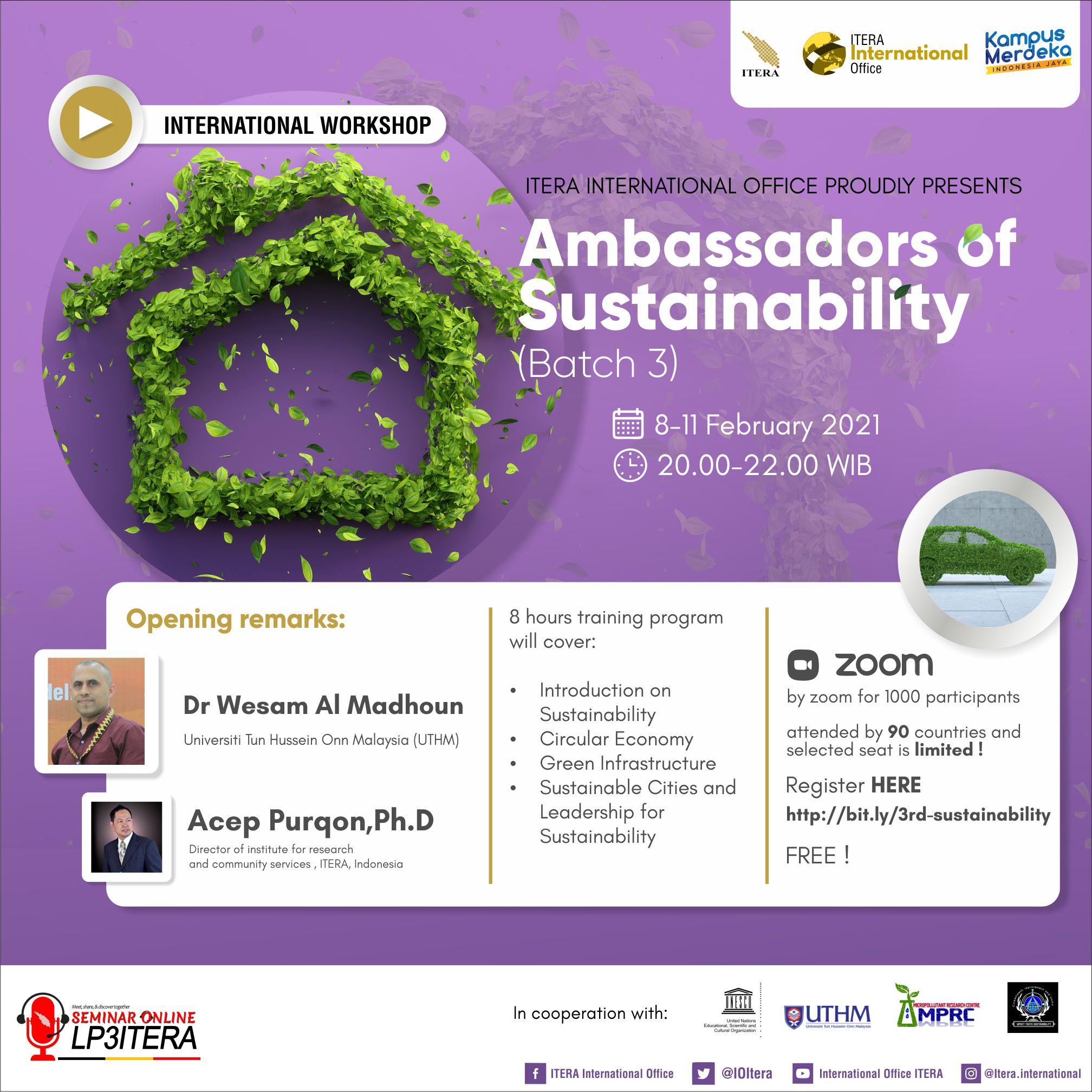 Ambassador of Sustainability Batch 3